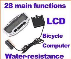 28 functions Bike Bicycle Computer Odometer Speedometer