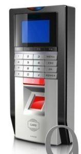 Fingerprint+Password+RFID ID Card Access Control Time Attendance TCPIP Silver