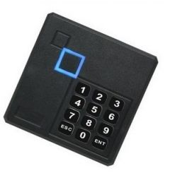 RFID 13.56MHz 14443A Access Control Reader Mini ABS Card + Keypad Wiegand Black Square 86x86 Waterproof