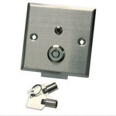 Fire door emergency switch outdoor for access control exit button w key open stainless steel
