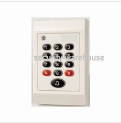 RFID 125 KHz + PIN Card Reader for Access Control 76x114 White Indoor Thin Body Wiegand
