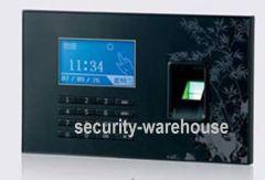 Fingerprint Attendance w SD Card & Blue large LCD screen 128 * 64 USB Keypad