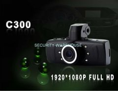 C300 vehicle traveling data recorder hd night-vision loop video traffic meter box for auto motorcycle
