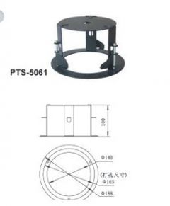 Embedded mounting kit internal for CCTV camera security ceiling mount alloy