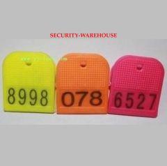 Hand grip sufficient number sauna bathroom shoes bath field shoe clip to clip plastic number card sauna lock
