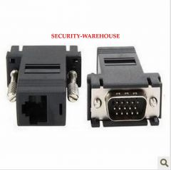 VGA switch RJ45 connector CAT5 CAT6 cable transmission VGA turn VGA cable VGA extender