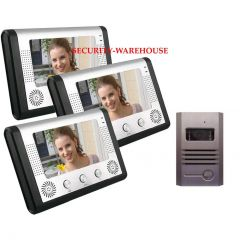 Practical 7 inches colored household color visual household visual intercom doorbell a pair three night vision waterproof