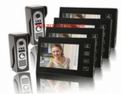 Practical 7 inches cable video intercom doorbell home video intercom doorbell household color visual two to four