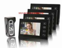 Latest styles visual intercom doorbelltouch 7 inches color visible interphoneluxury a pair four