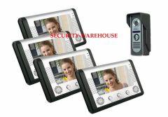 household wired 7 inches color visual building intercom doorbell intercomm doorbell phone waterproof 1 to 4