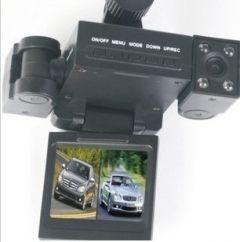 Transformers vehicle tachnography Double lens hd vehicle camera infrared night vision cameras synchronization