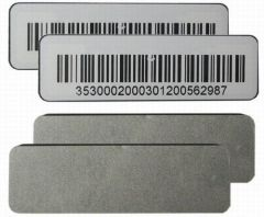 RFID UHF Anti-metal Foam With Barcode tag