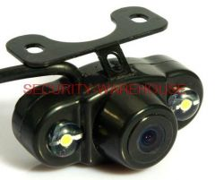 Universal car camera +night vision LED light head frog eye reversing mirror