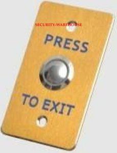 Gold Open Door Press Exit Button for Access Control Alloy Narrow Form Factor