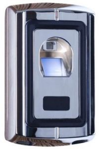 F07M Metal Case Silver Access Control Fingerprint + RFID 125 KHz Reader Mini Wiegand