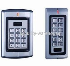 Metal Rugged Indoor Use All-in-One RFID 125 KHz Card + PIN Access Control w PIN LED