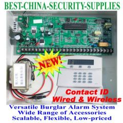 8 Wired 16 Wireless Zone Burglar Alarm Alarm Panel Board Ademco CID