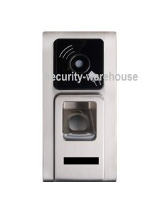 Fingerprint + RFID 125 KHz Card Attendance Machine Rugged Case Waterproof Silver Outdoor TCPIP + Web Admin