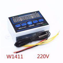 10PCS W1411 Smart Electronics LED Digital Temperature Controller AC 220V 10A XH-W1411 12V Thermostat