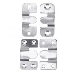 2pcs Multi-functional E-type Stainless Steel Cabinet Door Safety Lock Latch