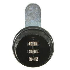 3 Digit Combination Camlock Chrome Cabinet Locks Door Cabinet Drawer Lock for Mailbox Black
