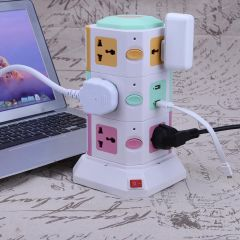 3 Layer Power Socket Universal Smart Electrical Socket Plugs 11 Outlet 2 USB Ports Surge Protector