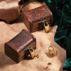 3Pcs/set Antique Bronze Plated Vintage Padlock Jewelry Chest Box Notebook Lock Luggage Belt Padlock