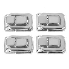 4pcs Silver Fastener Toggle Lock Latch Catch Practical Locks for Suitcase Case Boxes