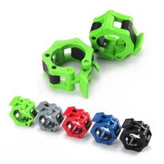 A Pair Barbells Lock Jaw Weightlifting Collars Quick Release Nylon Locking Clamps Muscle Training