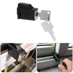 Aluminum Alloy Restrictor Lock Cabinet Latch Locks Child  Safety Sliding Window Restrictor
