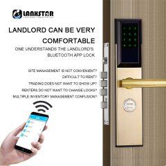Bluetooth RFID Card Password Intelligent Lock Anti-theft Door Electronic Smart Lock Mechanical Key 3