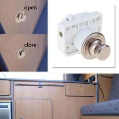 Car Push Lock Handle Type Button Push Locks Camper Car RV Caravan Boat Motor Home Cabinet Drawer