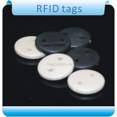Free shipping100pcs 125KHZ  two hole T5557 RFID  tags for clothes  laundry  high temperature  labels
