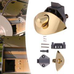 Half-moon push lock Keyless Push Latch Catch RV Wardrobe drawer cabinet ambry furniture lock 8x5.5x5
