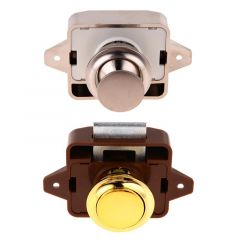 Mini Push Lock Button Catch Lock Cupboard Door Knob Camper Caravan Motorhome RV Cabinet Drawer