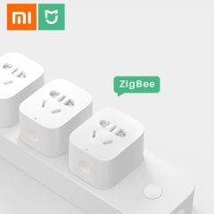 Original Xiaomi MiJia Smart Socket Plug Zigbee WiFi APP Wireless Remote Control Timer Switches Power