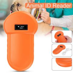 Portable LCD Display Animal Microchip Scanner Tag Barcode Scanner ISO11784/11785 134.2KHz FDX-B Pet