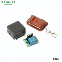 RAYKUBE Wireless Remote Control Kit 1V1 For Remote Open Electric Door Lock Control Module Rosewood T