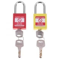 Security Engineering Anti-fire ABS shell Padlock Pure Copper Core Door Safety Lock keyed padlock