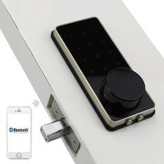 Silver Zinc Alloy Home Smart Bluetooth Electronic Touch Screen Code Password Lock Deadbolt Door Lock