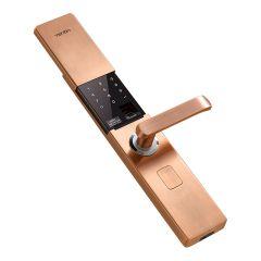 V9 IC Fingerprint Touch Screen Password Entrance Anti-theft Door Electronic Smart Lock Red bronze/K