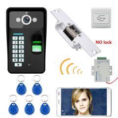 Waterproof HD 720P Wireless WIFI RFID Password Fingerprint Recognition Video Doorbell Intercom Access Control