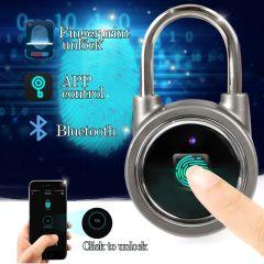 Waterproof Keyless Bluetooth Fingerprint Lock Padlock Anti-Theft APP Control Door Cabinet Smart