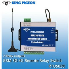 Wireless Relay Switch 3G 4G SMS Remote Controller with 2 Relay Outputs for Street Light Automation C