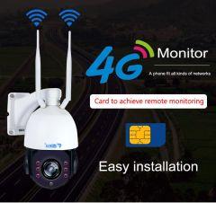 CCTV Security Solar Power Battery Surveillance CCTV Camera 4G PTZ
