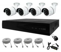 NVR Kit 4 CH for CCTV Security PoE IP Network
