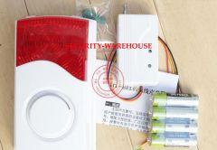 Wireless Strobe Siren for Burglar Alarm Intruder 315/433 Mhz Battery Operated