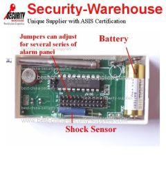 Wireless Shock Vibration Sensor Detector for GSM Alarm
