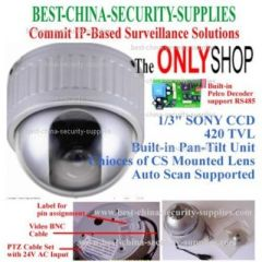 1/3 inches Sony CCD Dome CCTV Security Camera-PTZ 420 Pelco