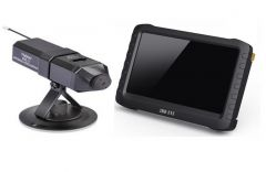 5-inch widescreen HD wireless video receiver +a small wireless camera mobile detection recording